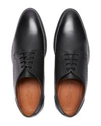 schwarze Leder Derby Schuhe von next
