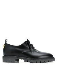 schwarze Leder Derby Schuhe von Off-White