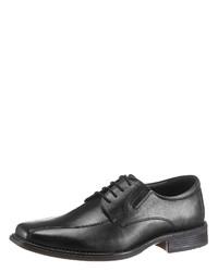 schwarze Leder Derby Schuhe von PETROLIO