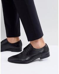 schwarze Leder Derby Schuhe von Pier One