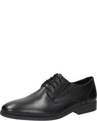 schwarze Leder Derby Schuhe von Rieker