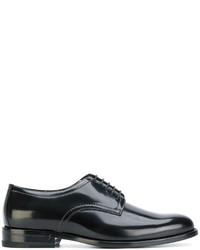 schwarze Leder Derby Schuhe von Saint Laurent
