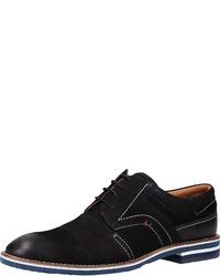 schwarze Leder Derby Schuhe von Salamander