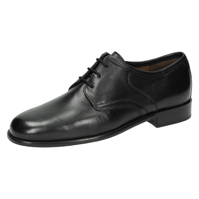 schwarze Leder Derby Schuhe von Sioux