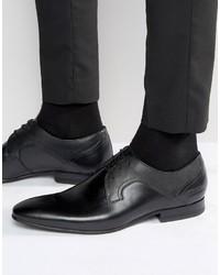 Schwarze Leder Derby Schuhe von Ted Baker