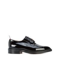 schwarze Leder Derby Schuhe von Thom Browne