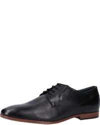 schwarze Leder Derby Schuhe von Tom Tailor