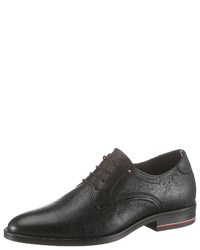 schwarze Leder Derby Schuhe von Tommy Hilfiger