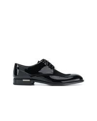 schwarze Leder Derby Schuhe von Versace