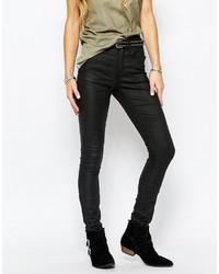 schwarze enge Jeans aus Leder von Blend She