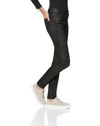 schwarze enge Jeans aus Leder von BLUE FIRE
