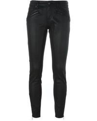 schwarze enge Jeans aus Leder von Burberry