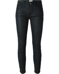 schwarze enge Jeans aus Leder von Current/Elliott