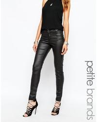 schwarze enge Jeans aus Leder