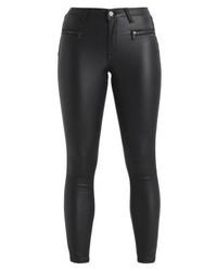 schwarze Leder enge Jeans von Fashion Union Petite