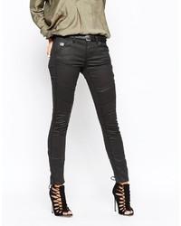 schwarze enge Jeans aus Leder von G Star