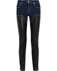 Schwarze Leder Enge Jeans von Givenchy