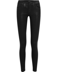 schwarze enge Jeans aus Leder von J Brand