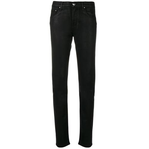 schwarze enge Jeans aus Leder von Jacob Cohen