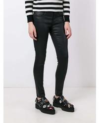 schwarze enge Jeans aus Leder von AG Jeans