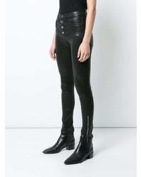 schwarze Leder enge Jeans von Rag & Bone