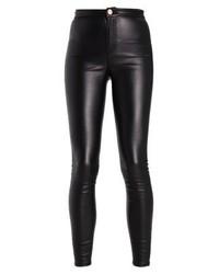 schwarze Leder enge Jeans von LOST INK