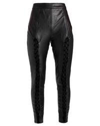 schwarze Leder enge Jeans von Missguided