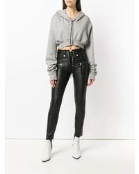 schwarze enge Jeans aus Leder von Unravel Project