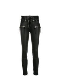 schwarze Leder enge Jeans von Unravel Project
