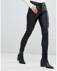 schwarze enge Jeans aus Leder von Vila