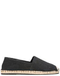 schwarze Leder Espadrilles von Valentino Garavani