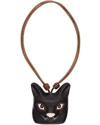 Schwarze Leder Halskette von Loewe