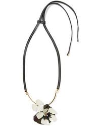 Schwarze Leder Halskette von Marni