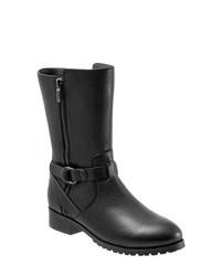 schwarze Leder mittelalte Stiefel