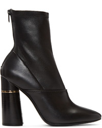 schwarze Leder mittelalte Stiefel von 3.1 Phillip Lim