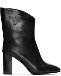 schwarze Leder mittelalte Stiefel von Acne Studios