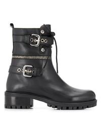 schwarze Leder mittelalte Stiefel von Albano