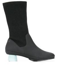schwarze Leder mittelalte Stiefel von Camper