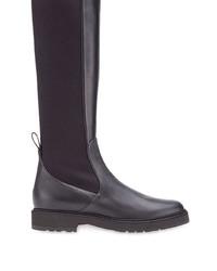 schwarze Leder mittelalte Stiefel von Fendi