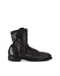 schwarze Leder mittelalte Stiefel von Guidi