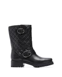 schwarze Leder mittelalte Stiefel von MICHAEL Michael Kors
