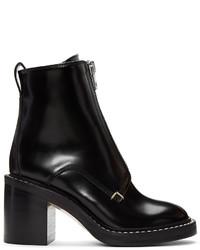 schwarze Leder mittelalte Stiefel von Rag & Bone
