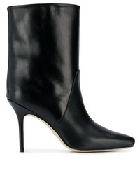 schwarze Leder mittelalte Stiefel von Stuart Weitzman