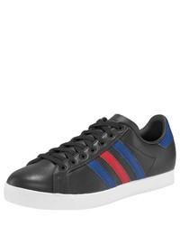 schwarze Leder niedrige Sneakers von adidas Originals