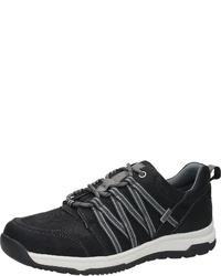 schwarze Leder niedrige Sneakers von Bama