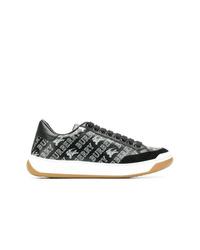 schwarze Leder niedrige Sneakers von Burberry