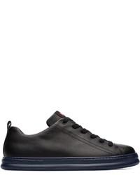schwarze Leder niedrige Sneakers von Camper