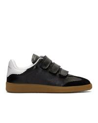schwarze Leder niedrige Sneakers von Isabel Marant