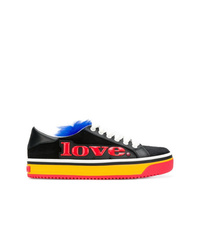 schwarze Leder niedrige Sneakers von Marc Jacobs