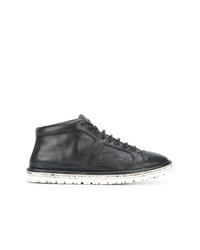 schwarze Leder niedrige Sneakers von Marsèll